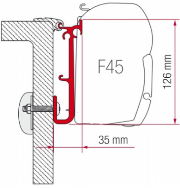 Fiamma F45 Awning Adapter Kit - Caravan